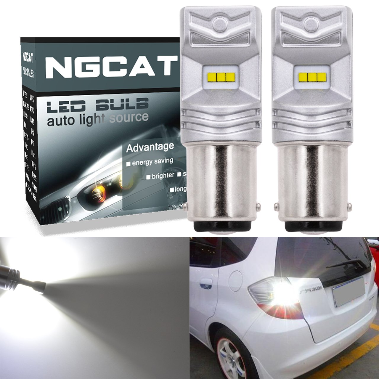 NGCAT 2 ampoules LED Philips H11 850 lm à puces CSP ultra lumineuses pour feux de jour automobiles H8-H9, blanc xénon, 12-24 V blanc xénon