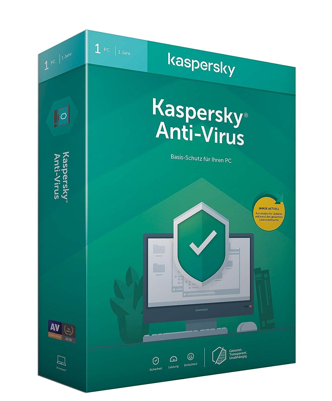 Kaspersky Anti-Virus (Code in a Box). Für Windows 7/8/10