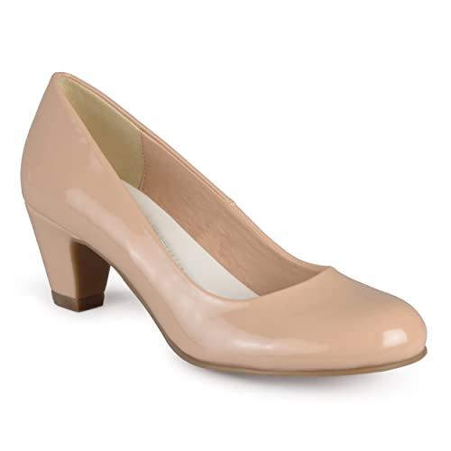 197e222ddc82 Journee Collection Womens Comfort Fit Patent Classic Pumps Nude