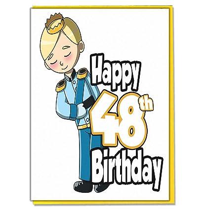Tarjeta de 48 cumpleaños para hombre, hijo, nieto, papá ...