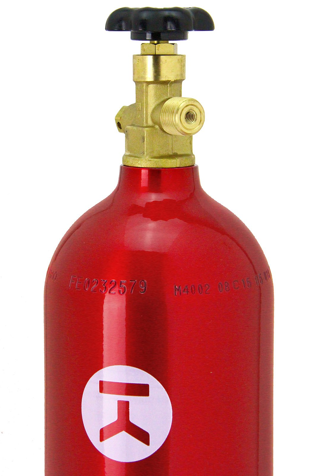 Kegco B5-RED 5 lb. Aluminum Co2 Tank with Red Finish for Kegerator and Draft Beer Dispensing by Kegco (Image #1)
