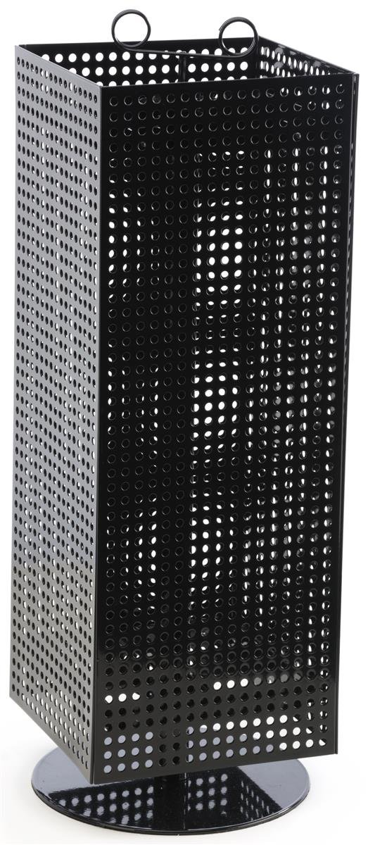 Displays2go Counter Pegboard Spinner Rack, Magnetic, 28'', Black Steel (MD4PCTBK) by Displays2go (Image #1)