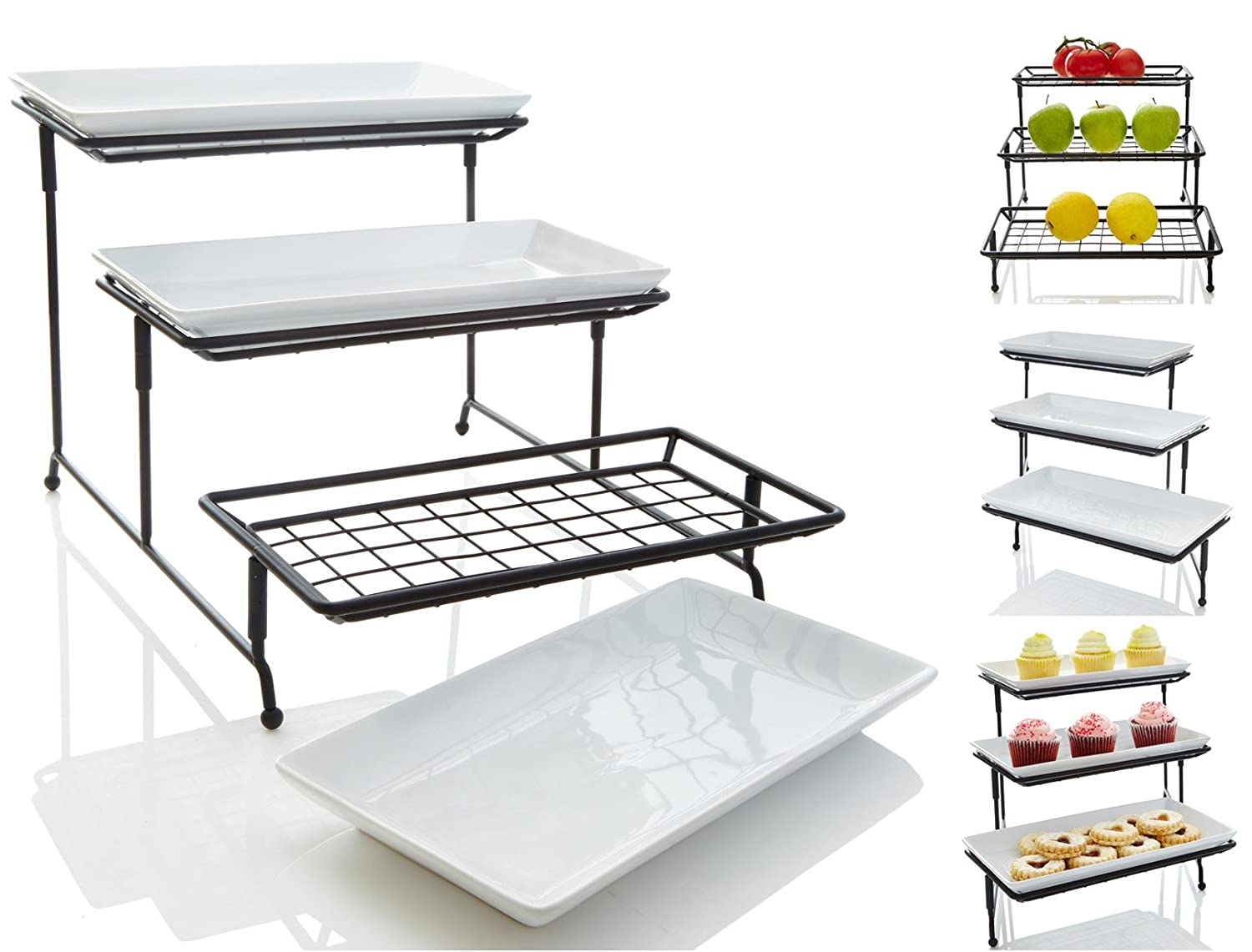 Amazon.com: Tiered Trays & Platters: Home & Kitchen