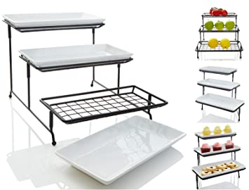 Well-liked Amazon.com | [NEW & IMPROVED] 3 Tier Serving Platters with Mesh  SA97