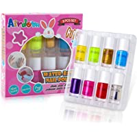 Airdom Non Toxic Kids Nail Polish Water Based Natural Odorless Safe Peel Off Nail Polish Set Quick Dry Nail Polish Gifts Toys Kit for Girls Kid (7 Bright Colors)