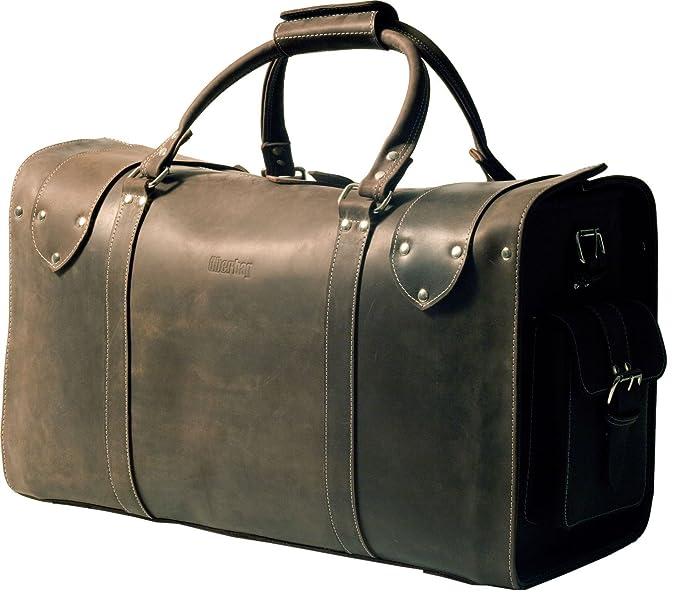 uberbag Oxford épais Vintage légumes Tanné en cuir véritable Sac fourre-tout/sac/bagage cabine - Marron - Mud Brown wB8aISskZ,