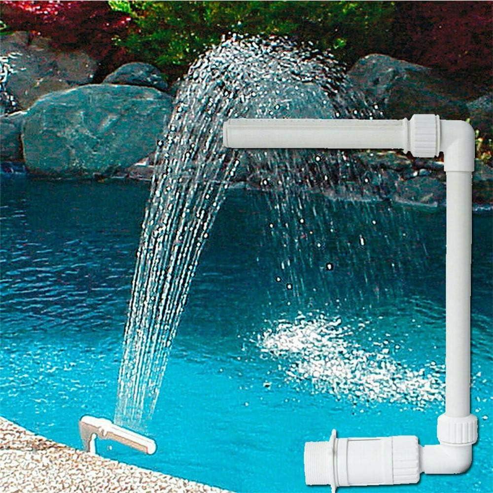 Deyan Cascada de Agua Cascada Piscina Kit de Fuente de Cascada Característica de PVC Piscinas de Agua SPA SPA para Decoraciones de Piscinas