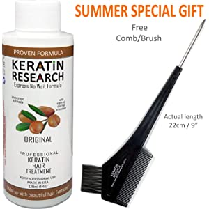 Keratin Blowout Hair Treatment Complex Brazilian 120ml Professional Results Straightens and Smooths Hair Queratina Keratina Brasilera