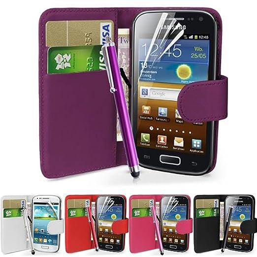 64 opinioni per fi9®- Cover in similpelle per telefoni Samsung con protezione per schermo e