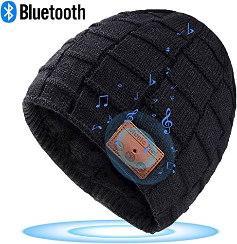 HIGHEVER Music Hat with Headphones, Built-in Microphone Fit for Outdoor Sports, Fully Washable, Best Gifts for Christmas