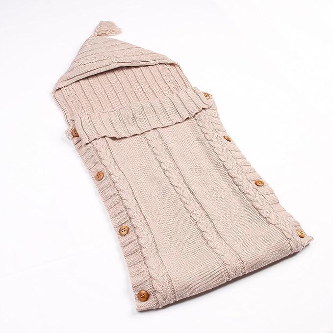 mimixiong sobres para recién nacidos Algodón de punto bebé sacos de dormir sacos de dormir infantil Swaddle Wrap mantas beige beige: Amazon.es: Ropa y ...