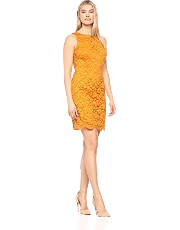 35a35a521b Amazon Brand - Lark & Ro Women's Sleeveless Crew Neck Lace Sheath Dress