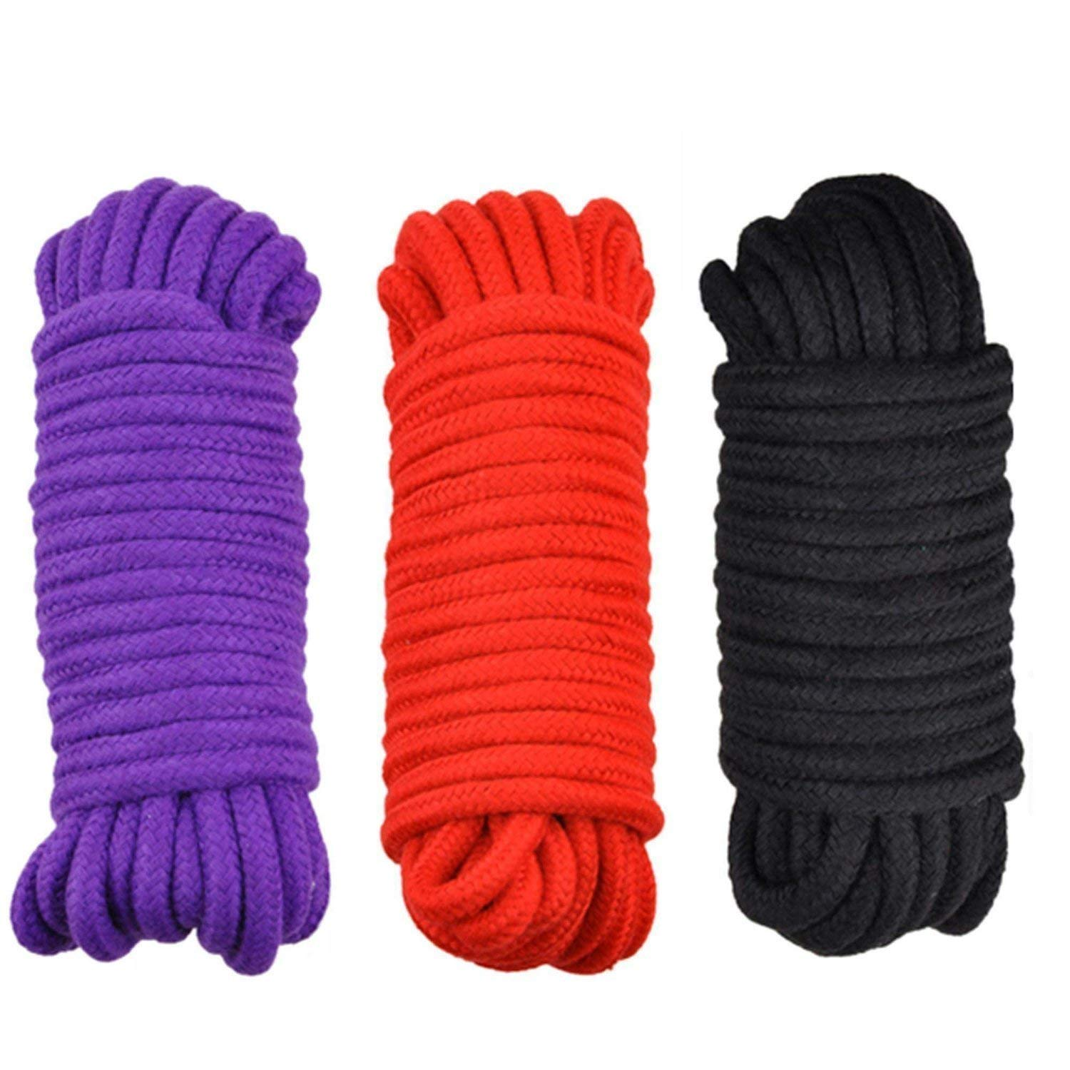 YierM Soft Twisted Cotton Rope 32 Feet(10M) Absolute Restraints Rope (3 Pack)