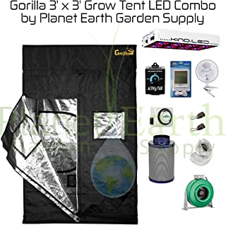Gorilla Grow Tent (3u0027 x 3u0027) LED Combo Package #1  sc 1 st  Amazon.com & Amazon.com : Secret Jardin Grow Tent (5u0027 x 10u0027) LED Combo Package ...