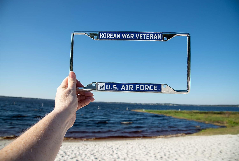 Frame - Korean War US Air Force Korean War Veteran License Plate Frame for Front Back of Car Officially Licensed United States