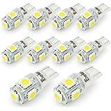 led t10 ポジションランプ - BeiLan T10 LED バルブ 194 168 2825 5連SMD 5050 チップ ウエッジタイプ ナンバー 車内ランプ置換 ナンバー灯 ウィンカーランプ ライセンスランプ メーターランプ 高輝度 ホワイト 爆光 10個セット
