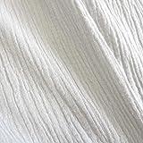 Stoff Meterware Baumwolle Musselin weiß uni Mulltuch Kleiderstoff Double Gauze