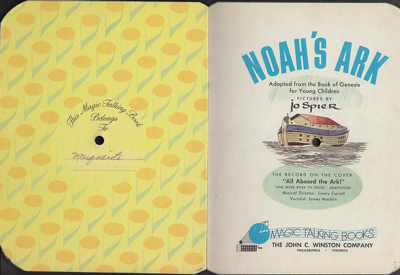 Noah's Ark Magic Talking Book #39 78rpm cover 1955 at Amazon's