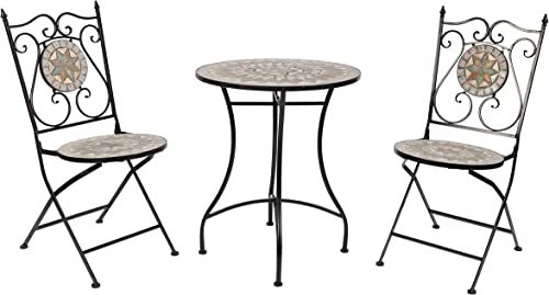 Homewell 3-Piece Mosaic Bistro Set
