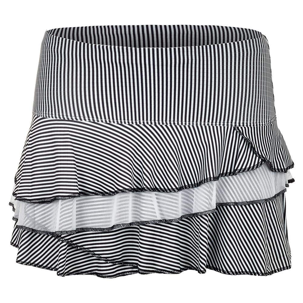 Lucky In Love Bloomy Dimensions Beeline Rally Skirt (Small) Black