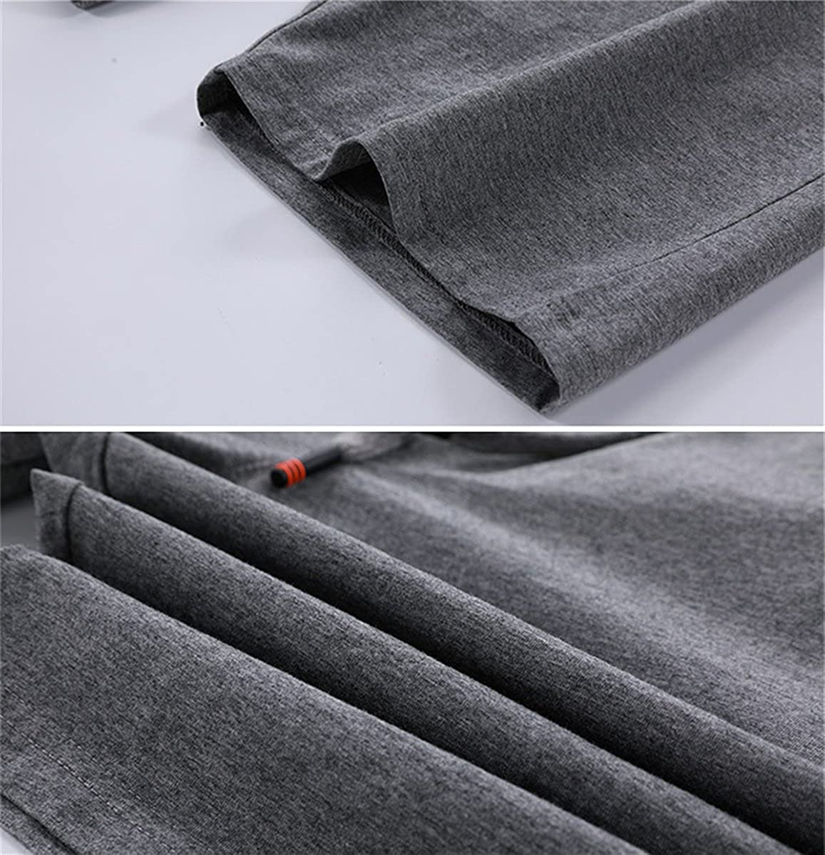 QZH.DUAO Mens Drawstring Shorts with Zipper Pockets
