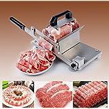 手動ミートスライサー肉切り機  オールステンレス製  業務用 家庭用 マト  ンロール 牛肉スライス 薄切機