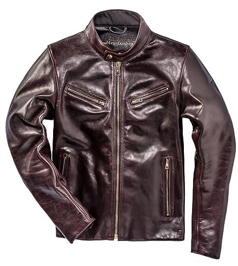 Dainese patina72 Cordovan motocicleta chaqueta de piel