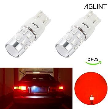 AGLINT 7443 Bombilla LED Super Bright 12V 24V W21W T20 7440 LED Para Luces de Freno Traseras de Respaldo de Coche (7443 Rojo): Amazon.es: Coche y moto