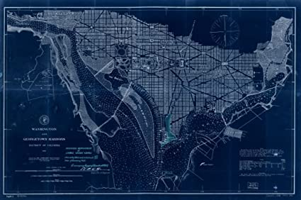 Amazon 18 x 24 blueprint style reproduced old map of 18 x 24 blueprint style reproduced old map of 1887proposed improvement of james creek canal malvernweather Images
