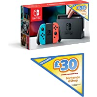 Nintendo Switch (Neon Red/Neon Blue) + £30 Nintendo eShop Voucher