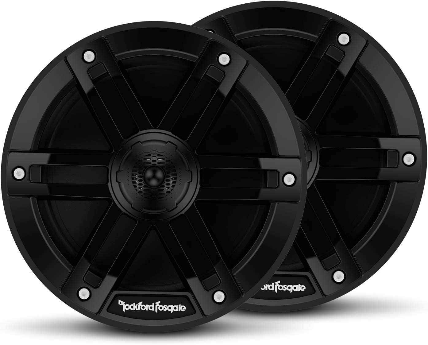 "Rockford Fosgate M0-65B Marine Grade 6.5"" Full Range Speakers - Black (Pair)"