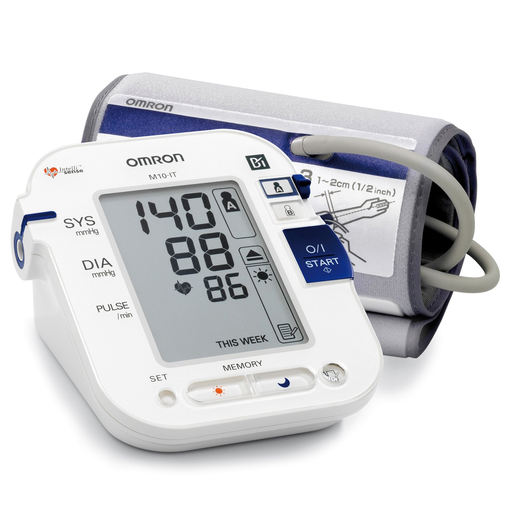Omron M10-it Upper Arm Blood Pressure Monitor With Dual-user Facility And