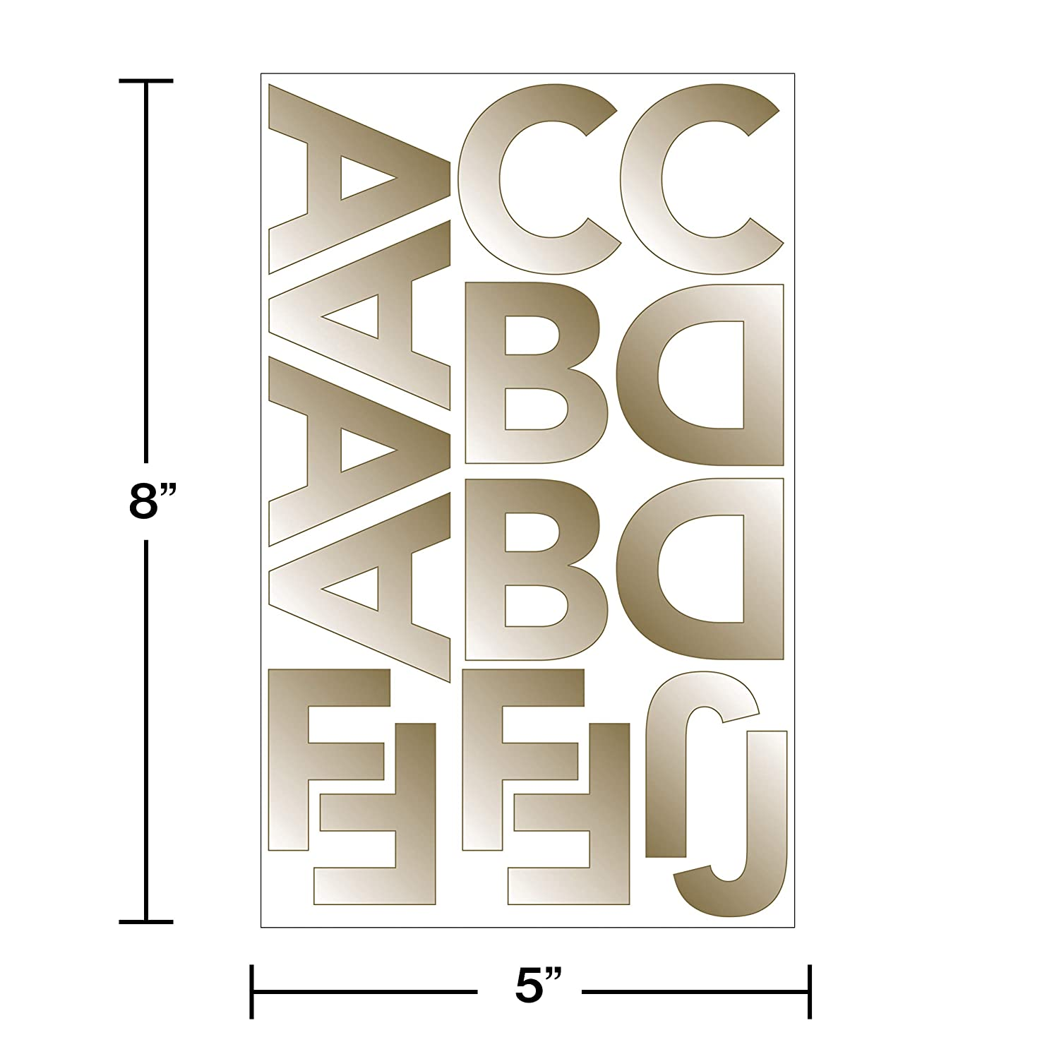 French Bull Gold Foil Letter and Number Banner Stickers