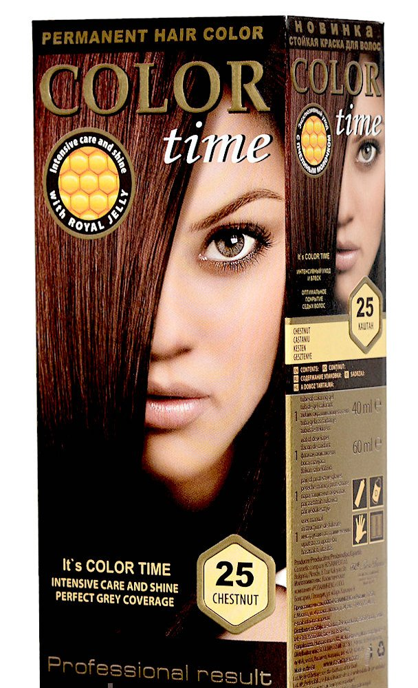 Color Time Permanent Hair Dye with Royal Jelly Color Copper Passion 69 Rosa Impex