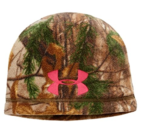 c6ca4d6b3c451 Under Armour Womens UA ColdGear Infrared Scent Control Camo Beanie One Size  Fits All REALTREE AP
