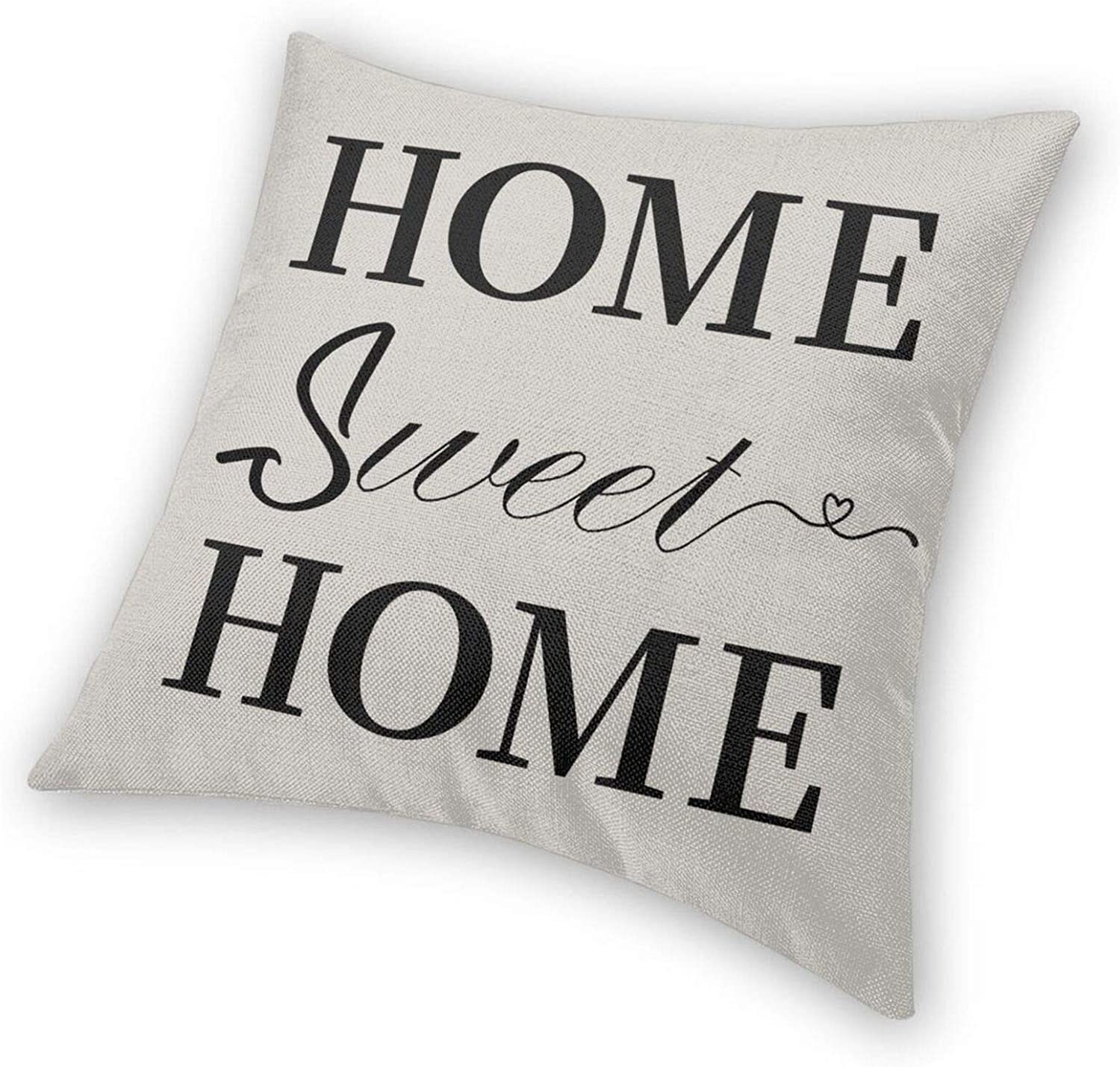 ZOZGETU Throw Pillow Covers 18x18 Home Sweet Home Pillow Cover Farmhouse Decor Pillow Cases Modern Decorative Square Soft Polyester Cushion Covers for Couch Car Bedroom Livingroom Sofa Chair