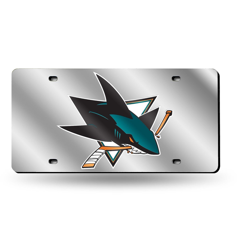 Silver NHL Laser Inlaid Metal License Plate Tag