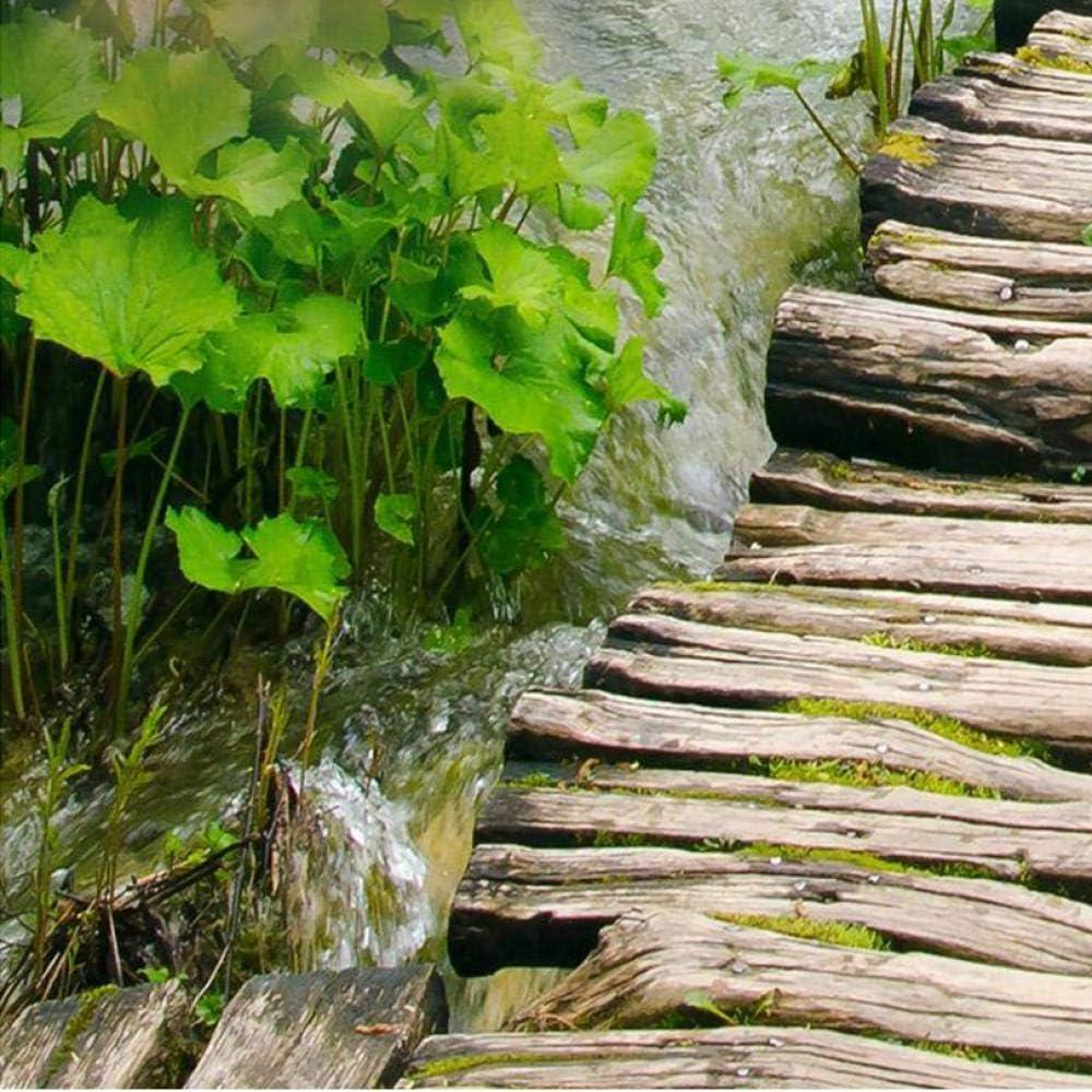 Papel De Parede 3d Paisagem Chinese Classic Wood Bridge Stream