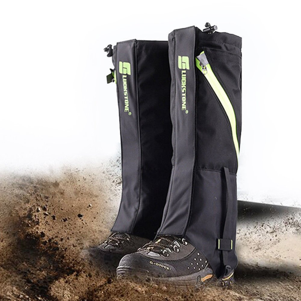 IC ICLOVER Snow Gaiters, 600D Oxford Waterproof Heavy Duty Leg Boot Cover Anti Bite,Dust,Mud,Rock,Thorns for Hunting Hiking Skiing Camping Climbing Breathable High Leg Protection Guard