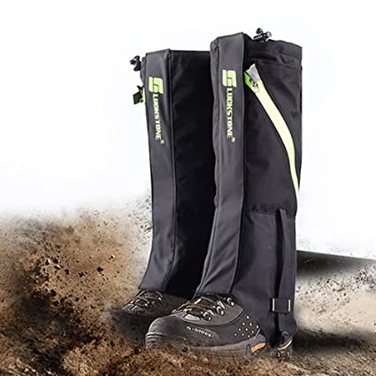 e7d4046c53a92 IC ICLOVER Snow Gaiters 600D Oxford Waterproof Heavy Duty Leg Boot Cover  Anti Bite/Dust/Mud/Rock/Thorns for Hunting Hiking Skiing Camping Climbing  ...
