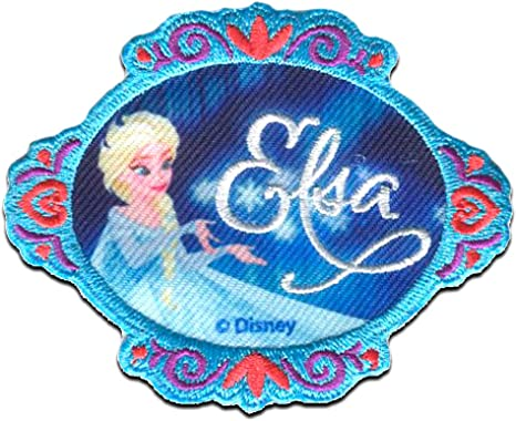 Frozen Elsa /& Anna Patch Motif Multicoloured
