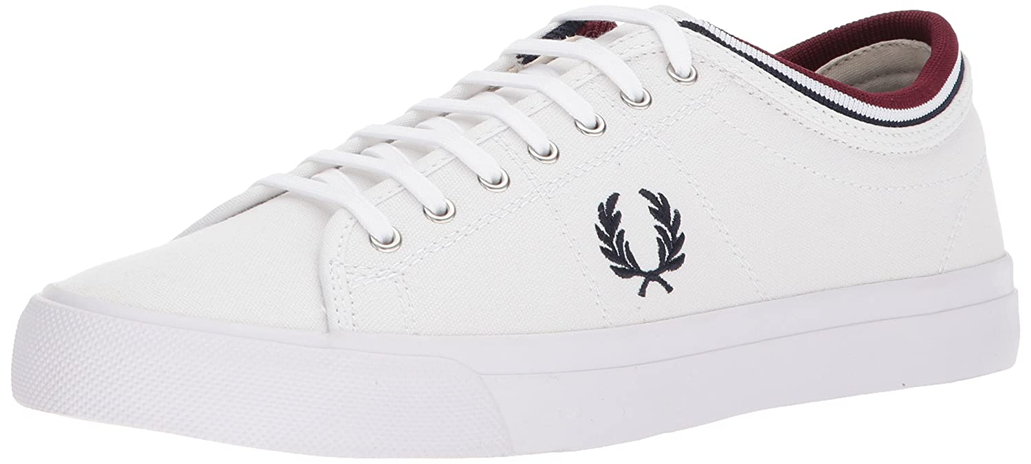 6432c3a4084c Fred Perry Unisex Adults  Kendrick Tipped Cuff Canvas Sneaker   Amazon.co.uk  Shoes   Bags