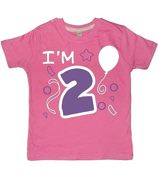 Chicle - 2 I m de color rosa de niña para 2nd cumpleaños de ...