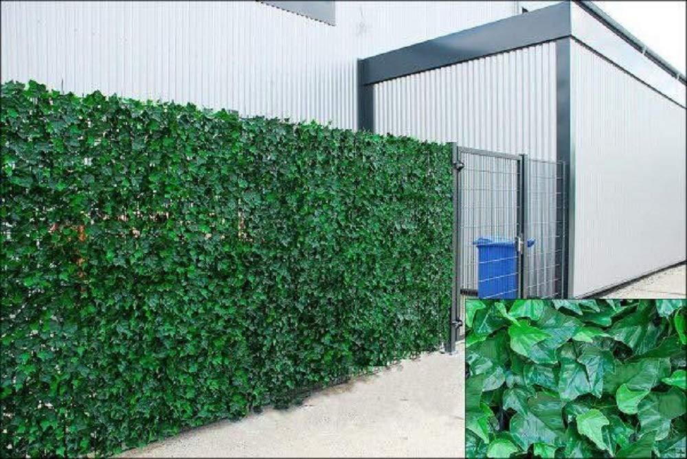 Ivy Hedge Edera artificiale foglia siepe pannelli su rotolo privacy recinzione da giardino, verde, 1.0m x 3m