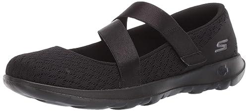 Black Skechers Damen Mary Jane Go Walk Lite Divine 15467