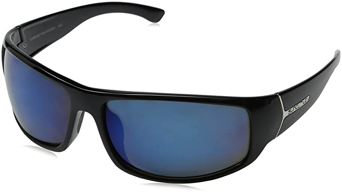 49517d5f5e Image Unavailable. Image not available for. Colour  Suncloud S-TUPPGYBK  Men s Smart Black Frame Grey Lens Wrap polarized Sunglasses