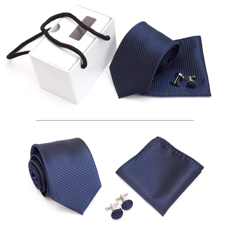 Pragmaticv Hombres Corbatas de regalo Corbata de regalo Gemelos ...