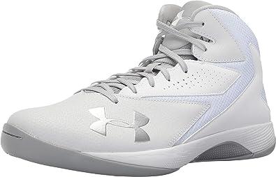 best loved d69f3 68000 Under Armour Men s UA Lockdown White White Metallic Silver Athletic Shoe