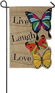 Live Laugh Love Garden Burlap Flag - 13 x 1 x 18 Inches