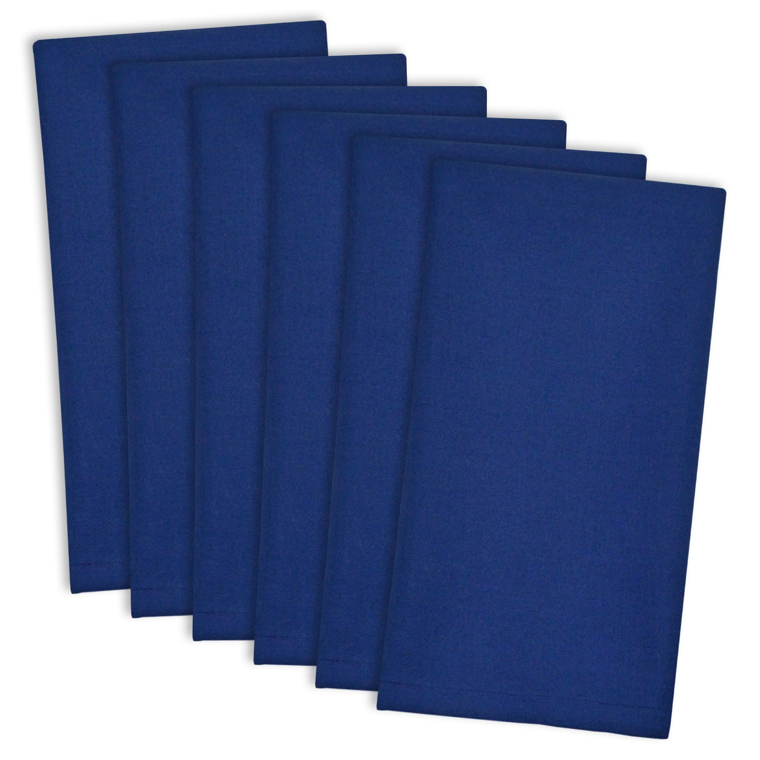 DII 100% Cotton Cloth Napkins, Oversized 20x20'' Dinner Napkins, For Basic Everyday Use, Banquets, Weddings, Events, or Family Gatherings - Set of 6, Anchor Blue